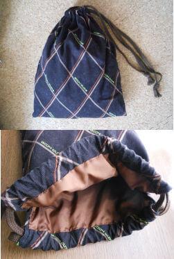 布が余っていたから全部収納する巾着も作っちゃえ☆