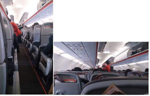 機内の様子。 写真がうまく撮れませんでした。わかりずらいですね(-_-;)