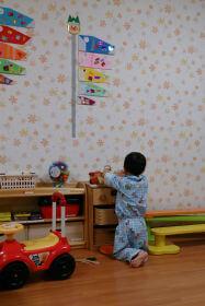 病棟にプレイルームがあり、そこで遊ぶ息子