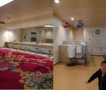 プール更衣室横のドレッサールーム(言い方合ってる!?)脱水機もあって便利